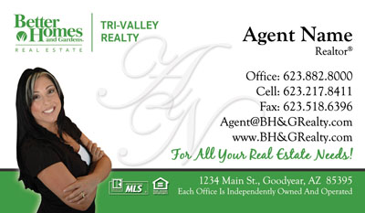 Better homes gardens business cards real estate logo business cards reheart Image collections