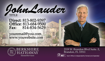 Berkshire Hathaway Business Card Printing