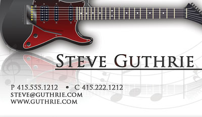 Contact cards networking cards huge selection of business cards music contact card guitar business reheart Images