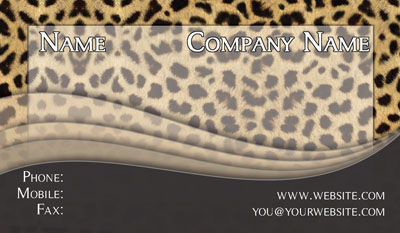 Contact cards networking cards 100s of design tempaltes to leopard business card colourmoves Image collections