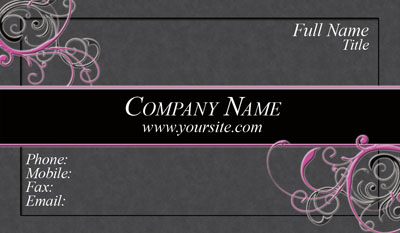 Contact cards networking cards huge selection of business cards pink and black business card friedricerecipe Gallery