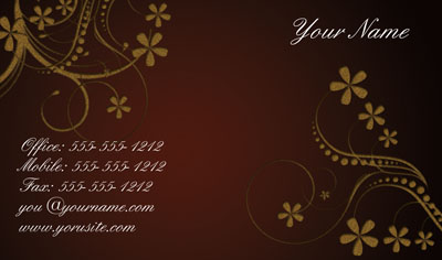red flower business card template