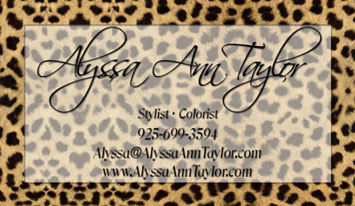 Contact cards networking cards 100s of design tempaltes to leopard print business card template colourmoves Image collections
