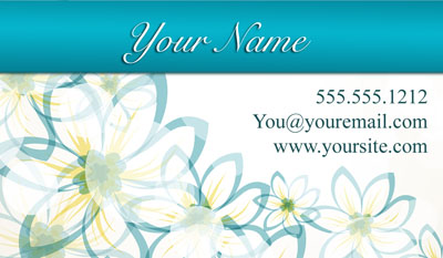 white business card - traditional