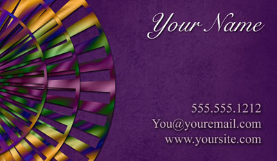 Purple business card - contact card