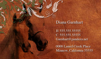Horse Themed Business Card Contact Card