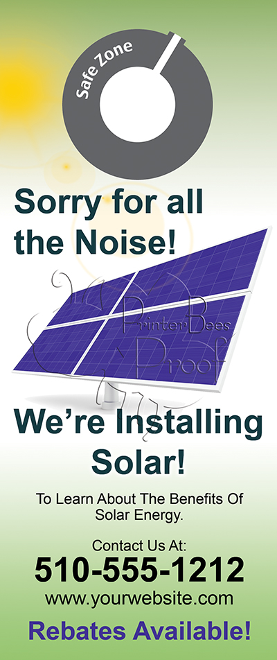 Solar Marketing  Solar Door Hanger Marketing  Door Hanger
