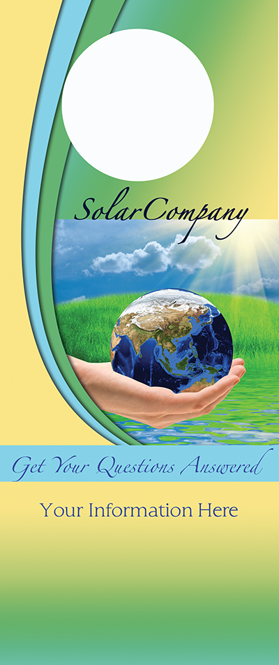 solar power marketing - door hanger templates