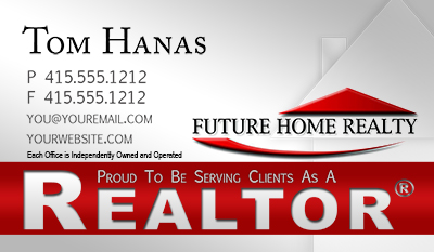New Future Home Realty business card template