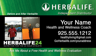 Herbalife health coach business card