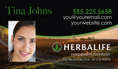 Herbalife Business Card for Health Coach with Headshot