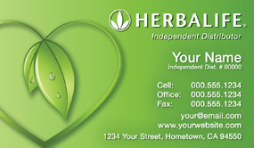 Herbalife business cards 1000 herbalife business card 5999 for Herbalife templates