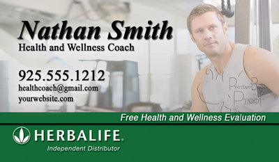 Herbalife business card with headshot