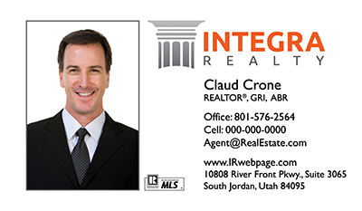 Integra Realty  business cards new logo