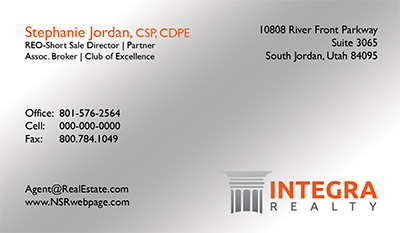 Integra Realty  Business Card Template 22