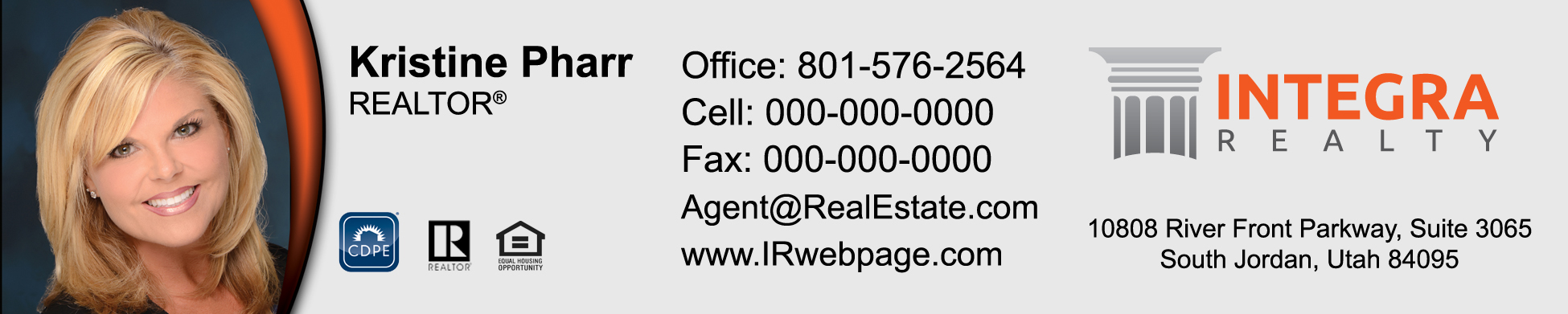 Integra Realty Business Cards   Professionally Designed And