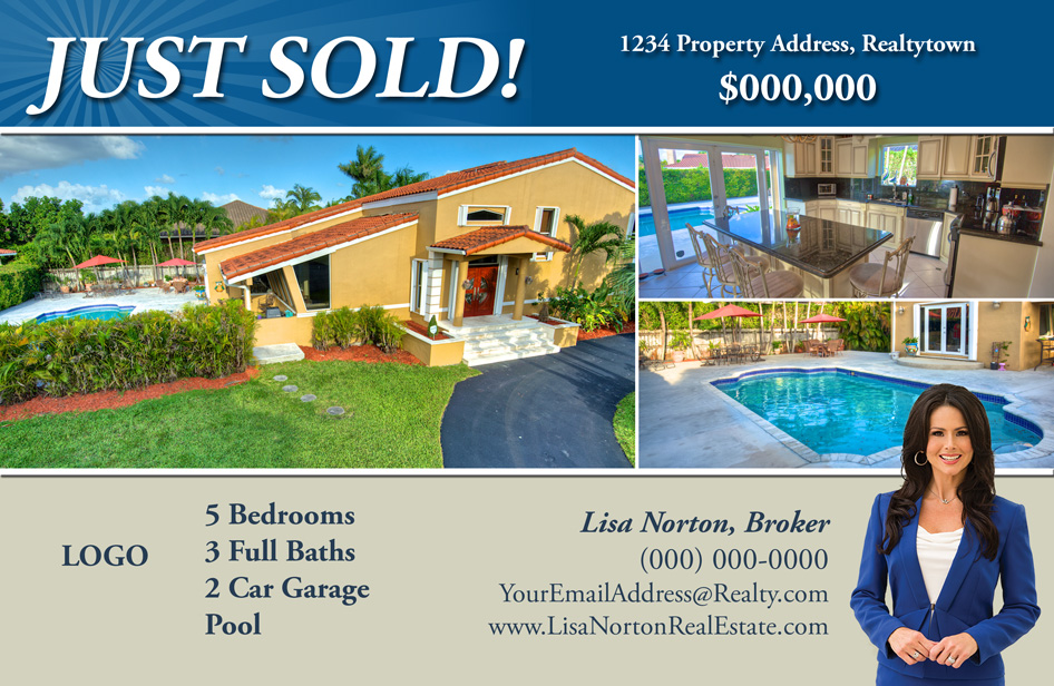 Just Listed Just Sold Postcards All Real Estate