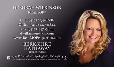 Berkshire Hathatway  Real Estate Business Cards