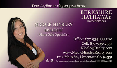 Berkshire Hathaway Business Card Printing Real Estate