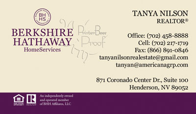Berkshire Hathaway Home Services Business Cards