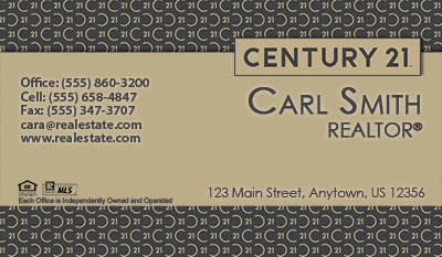 Century 21 business cards 6999 professionally designed and realtor business card reheart