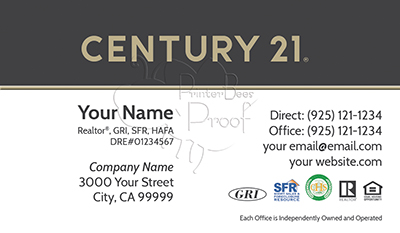 Century 21 Business Card Template 13