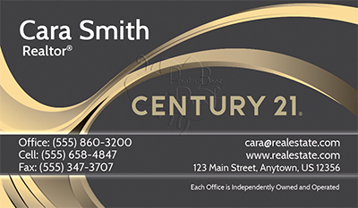 Century Business Cards Professionally Designed And - Century 21 business cards template
