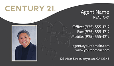 Century 21 Business Card Template 1
