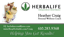 Herbalife Business Card
