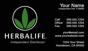 business card herbalife template