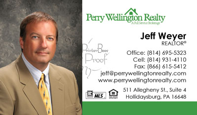 Perry Wellington Business Cards