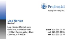 Prudential Business Card Template 5