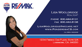 remax business card sample