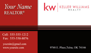 KW business cards new logo
