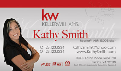 Keller williams business cards 6999 professionally designed and keller williams business cards new logo flashek Image collections