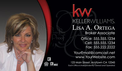 Keller williams business cards 6999 professionally designed and keller williams business cards reheart Image collections