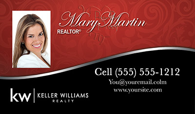 Keller williams business cards with headshot