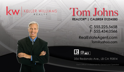 Keller williams business cards updated logo