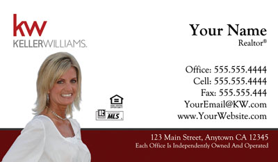 Keller williams business cards 6999 professionally designed and keller williams business cards colourmoves