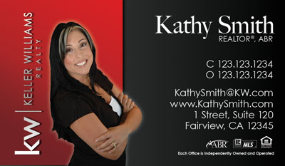 Real Estate Business Cards Keller Williams