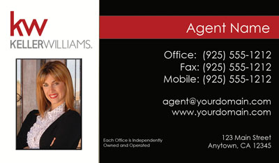 Keller williams business cards 6999 professionally designed keller williams realtor cards reheart Image collections