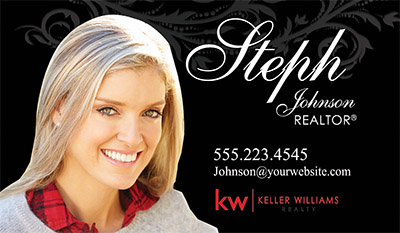 keller williams business cards new logo