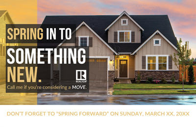 Spring forward postcards for Realtors
