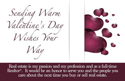 valentines day postcards for realtors custom real estate marketing postcards include free set up shipping and tax