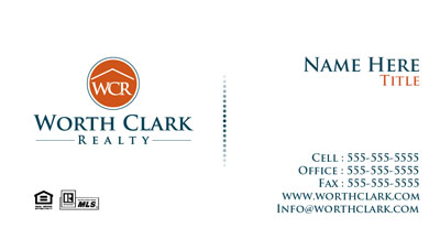 Worth Clark Realty business cards