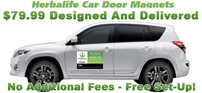 Herbalife Car Door Magnets