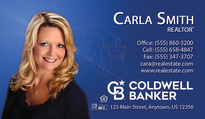 Coldwell banker business cards 1000 business cards 4999 no coldwell banker business card sample reheart Gallery