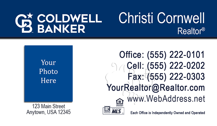 Coldwell Banker Business Cards Business Cards No - Coldwell banker business card template