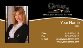 realtor color business cards with headshots