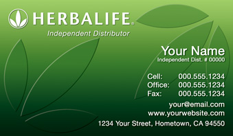 Herbalife business cards free shipping and design no additional herbalife business card template 1 wajeb